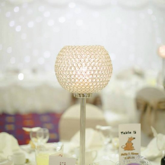 #centrepiece #crystalglobe  #wedding #weddingdecor