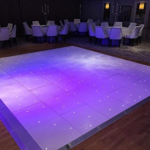 Our led #dancefloor in the four seasons suite @galgormweddings #Galgorm Resort & Spa band #Vienna will have the guests up partying now.