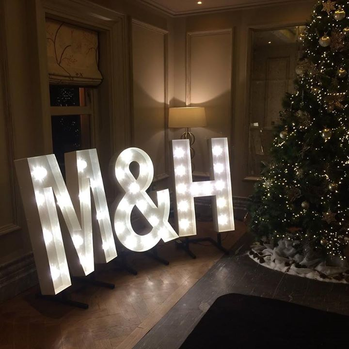 Our light up letters looked amazing for a corporate clients ...