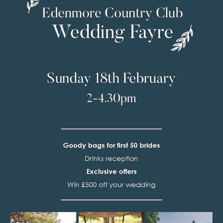 We will be exhibiting at the Edenmore Wedding Faye this Sund...