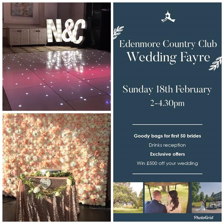 Pop along to Edenmore County club tomorrow for their Wedding...