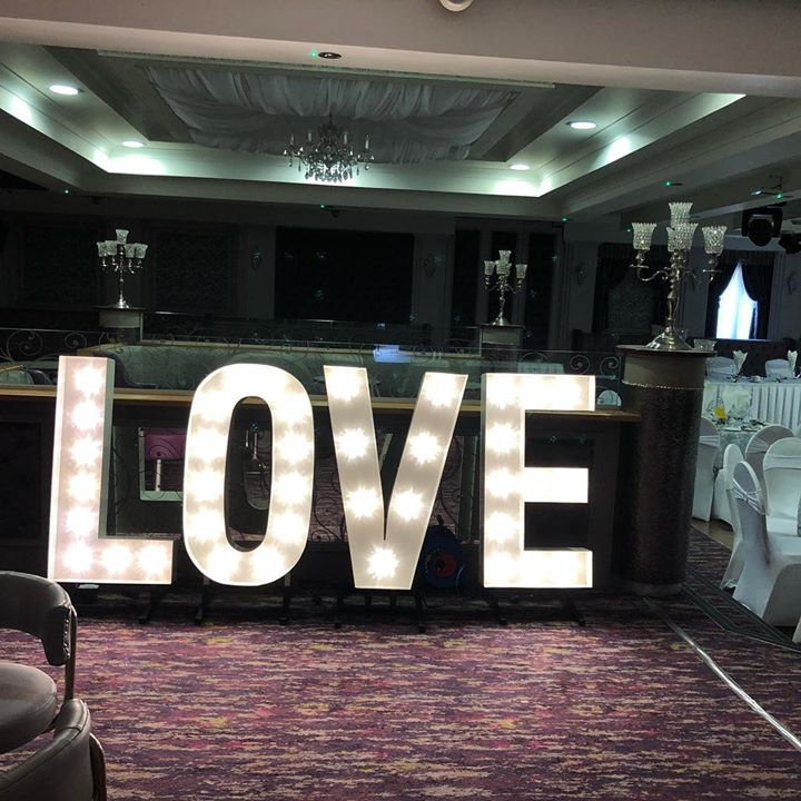 Love is all you need. Our light up letters looked stunning f...