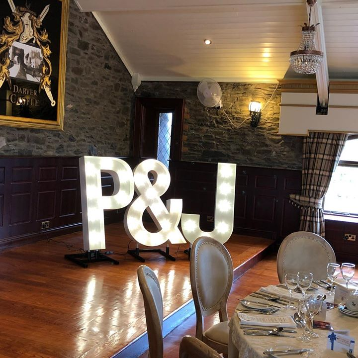 Our lovely light up letters looking charming in the gorgeous...