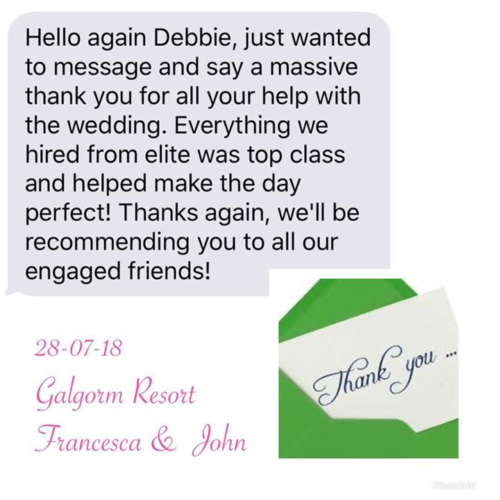 Another beautiful thank you from a delighted Bride. This mak...