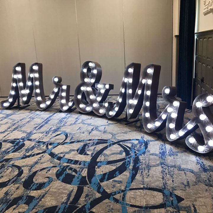 Looking for the rustic letters in lights. Our gorgeous Mr&am...