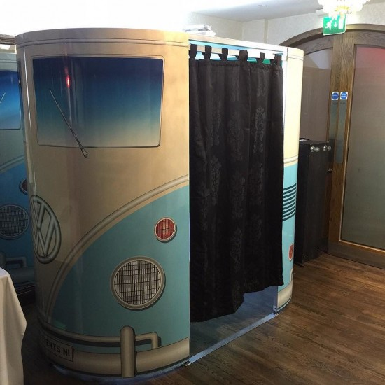 VW Camper photobooth. Still one of or most popular photobooths. #ramadaplaza #belfast #wedding  #photobooth #campervan