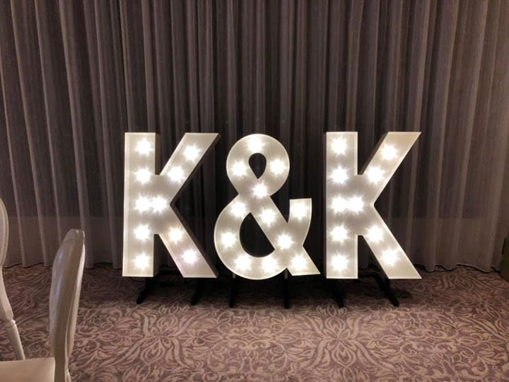 We have had a few couples who have hired their initials havi...
