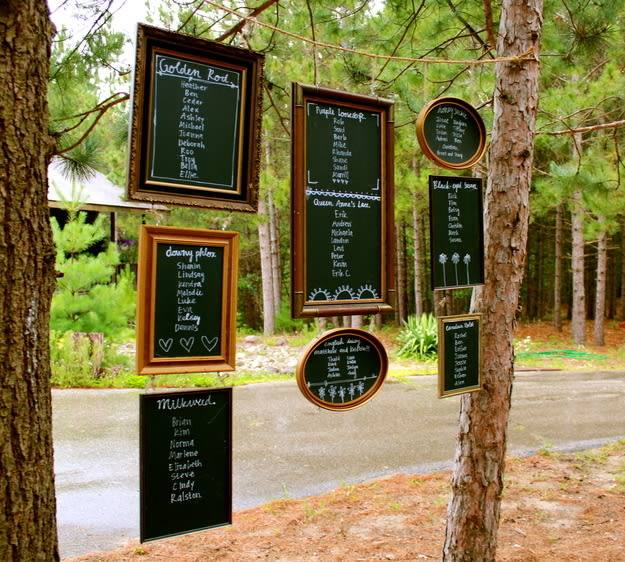 This is an Epic idea, keeping with the outdoor Wedding theme...