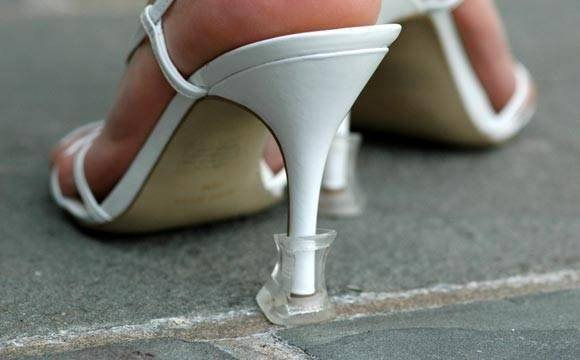 Another outdoor Wedding tip, or if you have to walk on grass...
