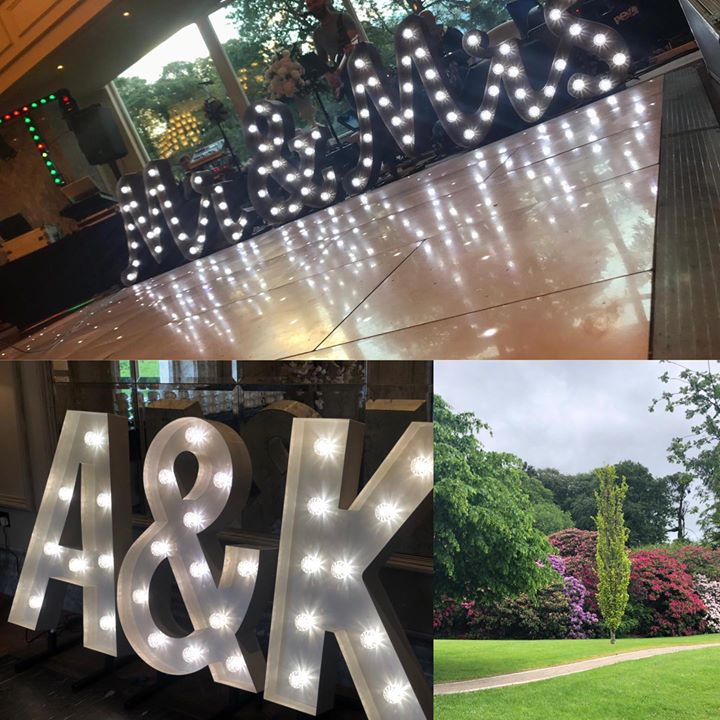 Another beautiful Wedding with our gorgeous light up letters...